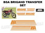 BSA Brigand Transfer Decal Set DBSA22 Orange